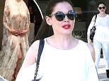 Surely that's not her wedding dress? Rose McGowan tweets a transparent bridal gown as she counts down to her big day