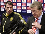 Plan of attack: Hodgson's side earned a draw with Ukraine - a result he was also happy for Liverpool to secure