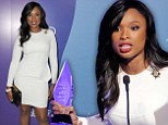 Now that's inspirational! Jennifer Hudson is jaw-dropping in a tight white dress as she's honoured at Power Of Women event for philanthropic ventures