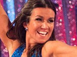 Stealing the limelight: Susanna Reid with dance partner Kevin Clifton on Strictly Come Dancing