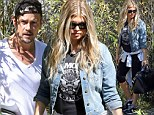 Whoa mama! Fergie shows off post-baby slimdown five weeks after giving birth as she checks on house renovations with husband Josh Duhamel