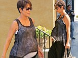 Celebratory lunch? Halle Berry dined at Rivabella Ristorante in West Hollywood, California on Friday, following the news of her upcoming role on a CBS drama