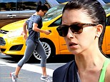 She's determined! Hilaria Baldwin works up a sweat whilst going for a city run as she continues on her quest to regain her perfect pre-pregnancy figure
