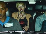 Miley Cyrus wears yet another attention seeking outfit as she heads out in X-rated top