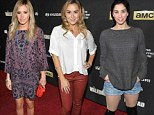 Meet the red carpet Walkers! Ashley Tisdale, Alexa Vega and Sarah Silverman unmasked as Walking Dead fans as they attend the fourth season premiere