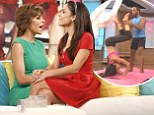Don't try this at home! Bethenny Frankel takes a tumble while attempting aerial yoga on her chat show... as guest Lisa Rinna admits to being a 'freak' in the bedroom