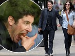 Eating for two? Jason Biggs takes pregnant wife Jenny Mollen out to lunch but he's the one stuffing his face