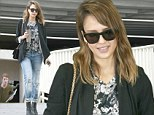 Beautiful inside and out! Health-minded Jessica Alba shows off new shorter hairdo as she steps out on a lunch break