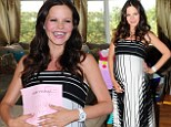 Heavily pregnant Tammin Sursok wows in elegant frock at low-key baby shower with her gal pals