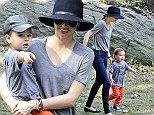 Reunited and it feels so good! Miranda Kerr has a well-deserved park day with son Flynn after the whirlwind of Paris Fashion Week