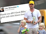 'Great Bday so far!' Liev Schreiber celebrates his 46th birthday with sons and a rare Muhammad Ali print