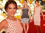 Ponies and posies! Alessandria Ambrosio and Kaley Cuoco pretty it up for an elegant day out at the Veuve Clicquot Polo Classic