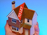 Hand holding model house to let