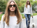 2446252 It's another dog day afternoon for Olivia Palermo as she takes pooch Mr Butler for a Saturday stroll in Brooklyn