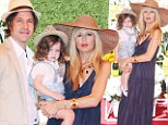 Mad hatters! A pregnant Rachel Zoe and her family don matching hats at fourth annual Veuve Clicquot Polo Classic event