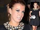 Coleen Rooney bumps in to Danielle Gibson as she arrives at a Bruno Mars concert Manchester, UK