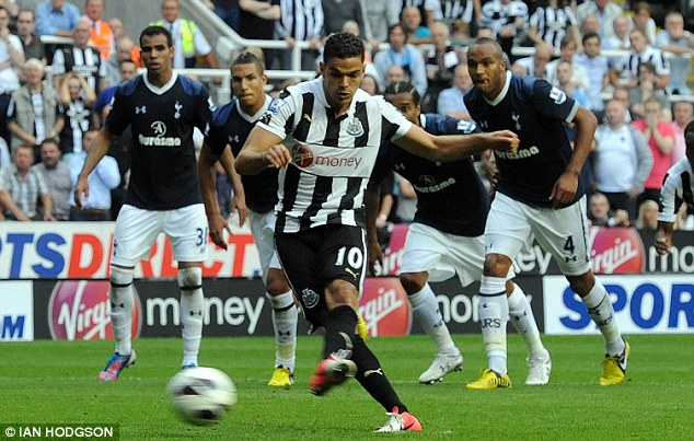 Danger man: Hatem Ben Arfa has been in rare form for battling Newcastle United this year