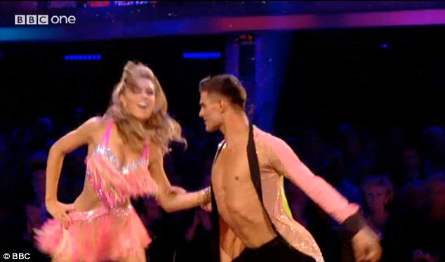 Rocking the dancefloor: Abbey's routine was certainly energetic, and she put her all into perfecting her steps