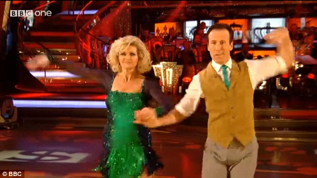 Oops-a-daisy! The judges said Fiona failed to pull her routine back after she stumbled mid-way through