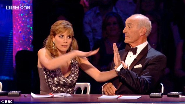 Battle of the panellists: Darcey Bussell and Len Goodman appeared to disagree over something