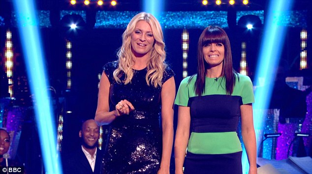 Here come the girls: Tess Daly and Claudia Winkleman presented the show in the absence of Bruce Forsyth