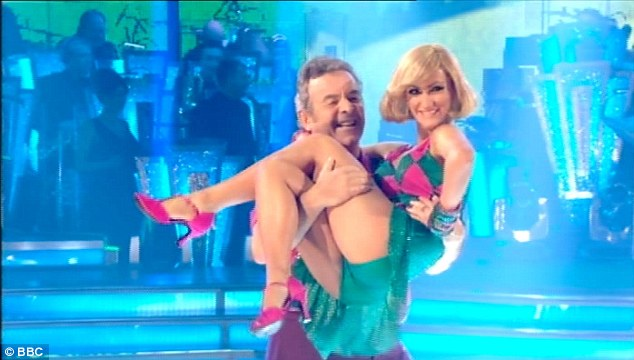 Good effort: Former professional golfer Tony Jacklin and his partner Aliona Vilani weren't so lucky with their comments