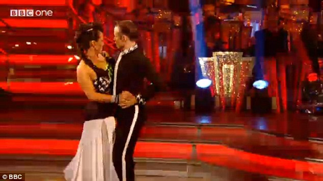Working it: Delivering an impressive score of 31 for the couple's tango, Darcey said: 'I'm loving your convicition. I think you should give up your day job, you've got it! You're enjoying every minute'