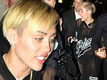 Back to causing controversy! Miley Cyrus wears entirely see-through dress as she parties after hosting SNL... as her episode is labelled 'worst in recent history'