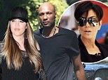 Khloe Kardashian 'prepares divorce papers' for Lamar Odom as mom Kris Jenner says her daughter is staying 'strong'