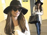 Hanging in there: Lea Michele grinned as she stepped out with a friend (not pictured) in Los Angeles, California on Saturday