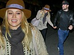 Hilary Duff and Mike Comrie at the Hollywood Bowl