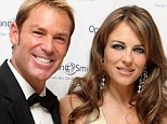 Reunited: Shane Warne and Liz Hurley are rumored to meet up again in London