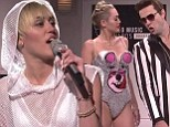 'Hannah Montana was murdered:' Miley Cyrus jokes about fate of Disney alter-ego on SNL and pokes fun at controversy over her MTV VMAs performance