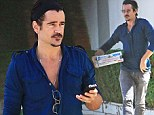 Special delivery! Incognito Colin Farrell looks good enough to eat as he throws a pizza party for a friend
