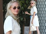 Sharon Stone out for lunch on Sunday in West Hollywood, California