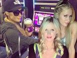 Birthday girl: Paris Hilton shared a photo on Sunday of her celebrating younger sister Nicky Hilton's birthday in Las Vegas
