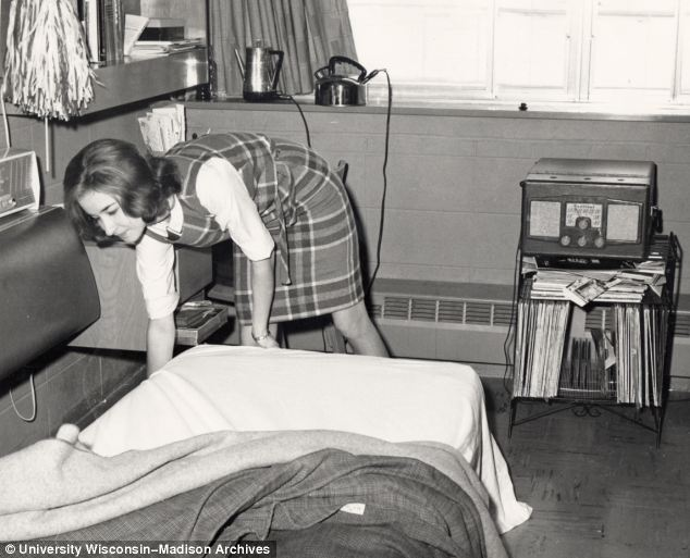 By the 1960s the rooms begin to look more relaxed and the changing fashions show the new styles