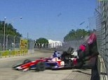 Four-time IndyCar Series champion Dario Franchitti was rushed to hospital after a frightening crash during the final lap of the Houston Grand Prix on Saturday.
