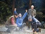 Tim McMullan (Angus), John Marquez (Neville), Adrian Edmondson (Gordon) and Rufus Hound (Roy) in Neville's Island by Tim Firth