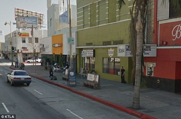 Street violence: This busy area of LA is where three men stole Nydia Rivera's phone before trying to force her into a car