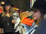 Ashley Benson and dog Olive go to Mr Bones pumpkin patch