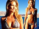 Model behaviour: Bar Refaeli shared an Instagram photo on Sunday of herself in a tiny bikini and also relayed her recipe for fun