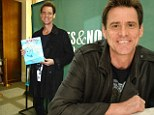 Actor and author: Jim Carrey hosted a signing party on Sunday in Toronto, Canada for his children's book How Roland Rolls