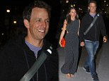 How do we look?! Newlyweds Seth Meyers and his wife Alexi Ashe make their first public appearance since tying the knot