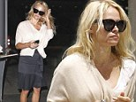 Time for a nap? Pamela Anderson jets into LAX looking exhausted after romantic French getaway with ex husband Rick Salomon