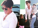 Kris Jenner looks in her element as she hits the mall with grandkids Penelope and Mason