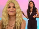 Not your best look! Bethenny Frankel jokes around as she tries on blonde wig on her chat show but gets serious to open up about her 'horrendous' divorce