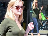 Not exactly a fashion queen: Reese Witherspoon dresses down for shopping trip after it's revealed she will play a princess in Disney's Happily Ever After