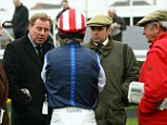 Trust issues: Racing fan Redknapp, seen here chatting to jockey Robert Thornton, fell for a conman¿s hard luck tales