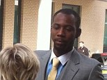Getting in the passenger seat: Phillips Idowu leaves Chelmsford Magistrates' Court after being banned for 2-years